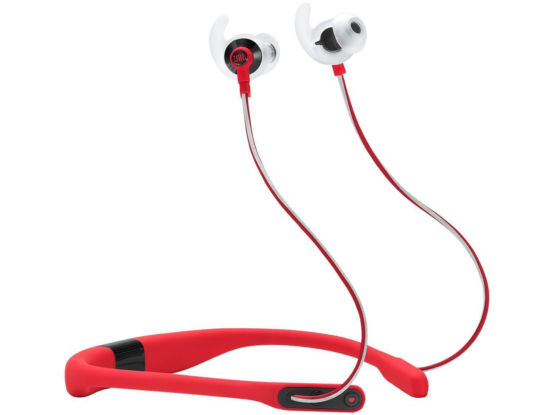 Fone de Ouvido Bluetooth JBL Intra-auricular - com Microfone Esportivo Vermelho Sport Reflect Fit