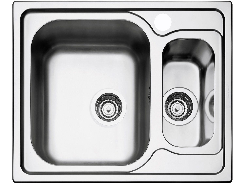 Cuba Simples e Auxiliar de Sobrepor para Cozinha - Tramontina Inox Retangular 62,5x50cm Prime Marea