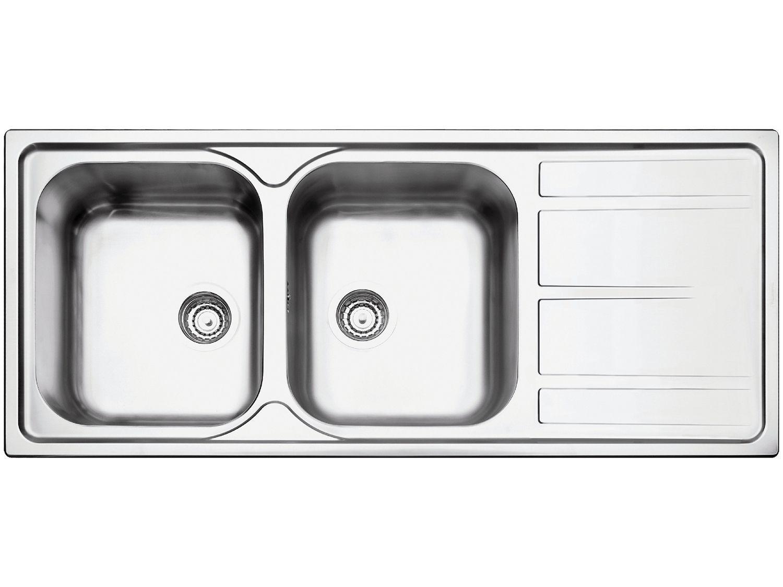 Cuba Dupla de Sobrepor para Cozinha Tramontina - Inox Retangular 116x50cm Prime Marea