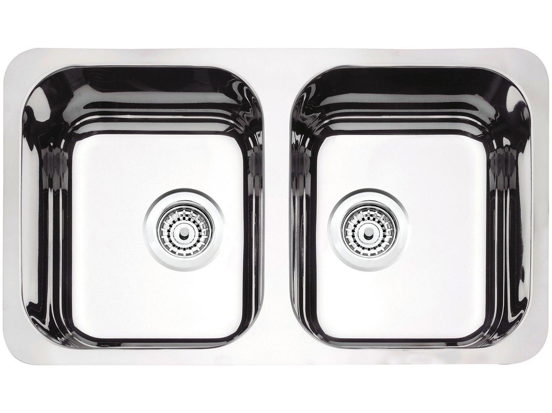 Cuba Dupla de Embutir para Cozinha Tramontina - Inox Retangular 77,5x45cm Prime Isis Plus