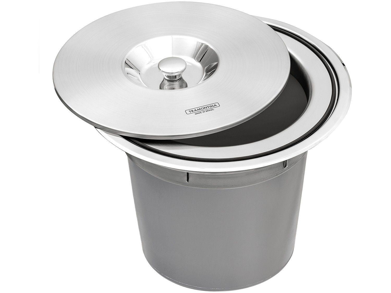 Lixeira Inox de Embutir Tramontina 8L - Clean Round