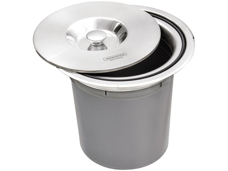 Lixeira Inox de Embutir Tramontina 5L - Clean Round