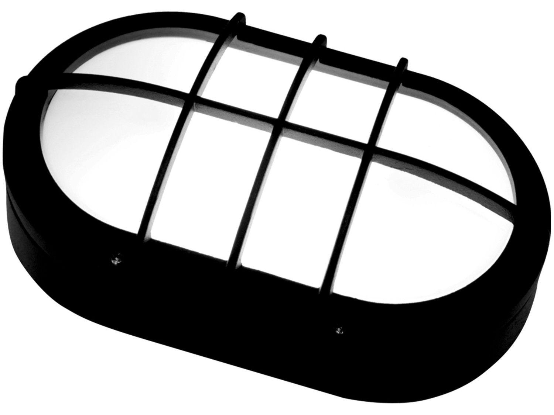Luminária Tartaruga de LED Oval Preto Taschibra - TTL 05