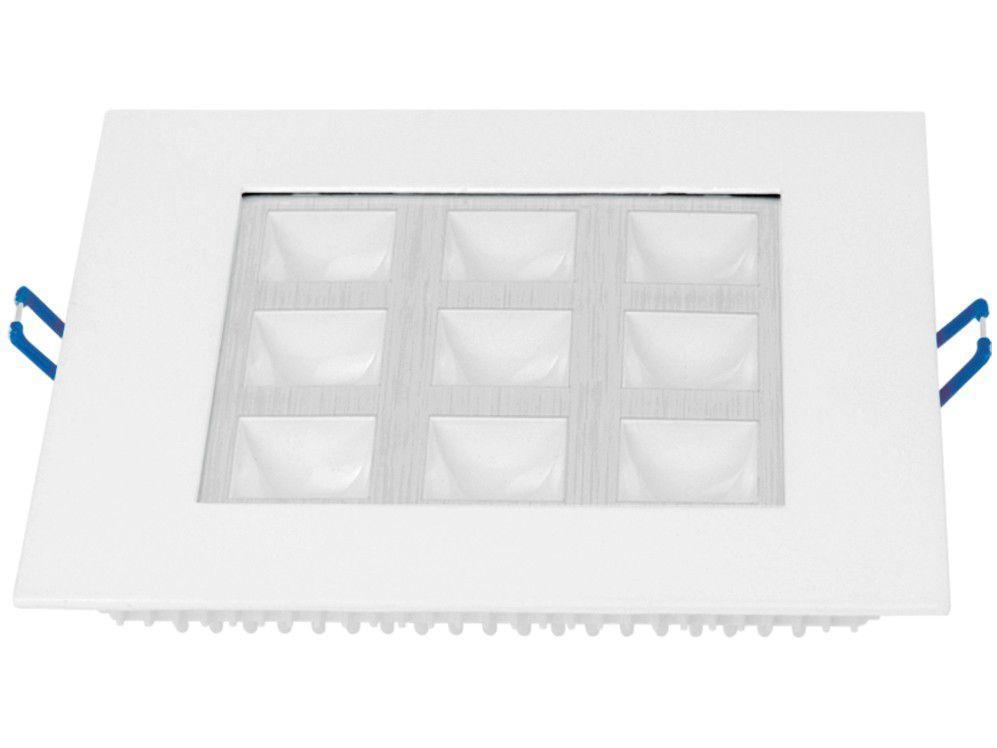 Spot de LED de Embutir Quadrado Branco Taschibra - TSGL 109