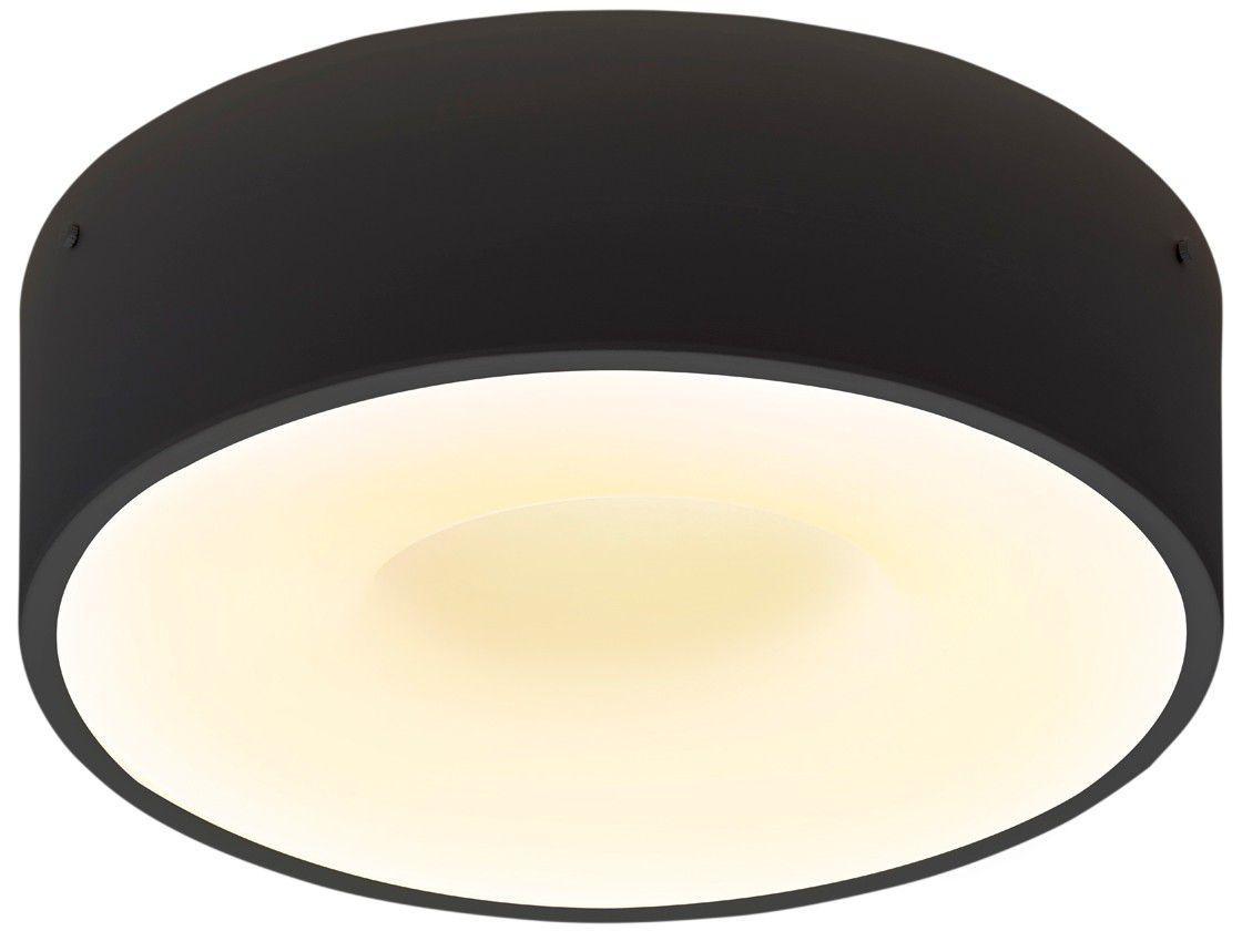 Plafon LED de Sobrepor Redondo Preto 40W - Taschibra Sushi