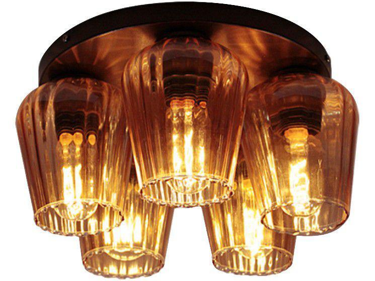 Arandela de Vidro 5 Lâmpadas 200W Taschibra - Tulip PLT-550