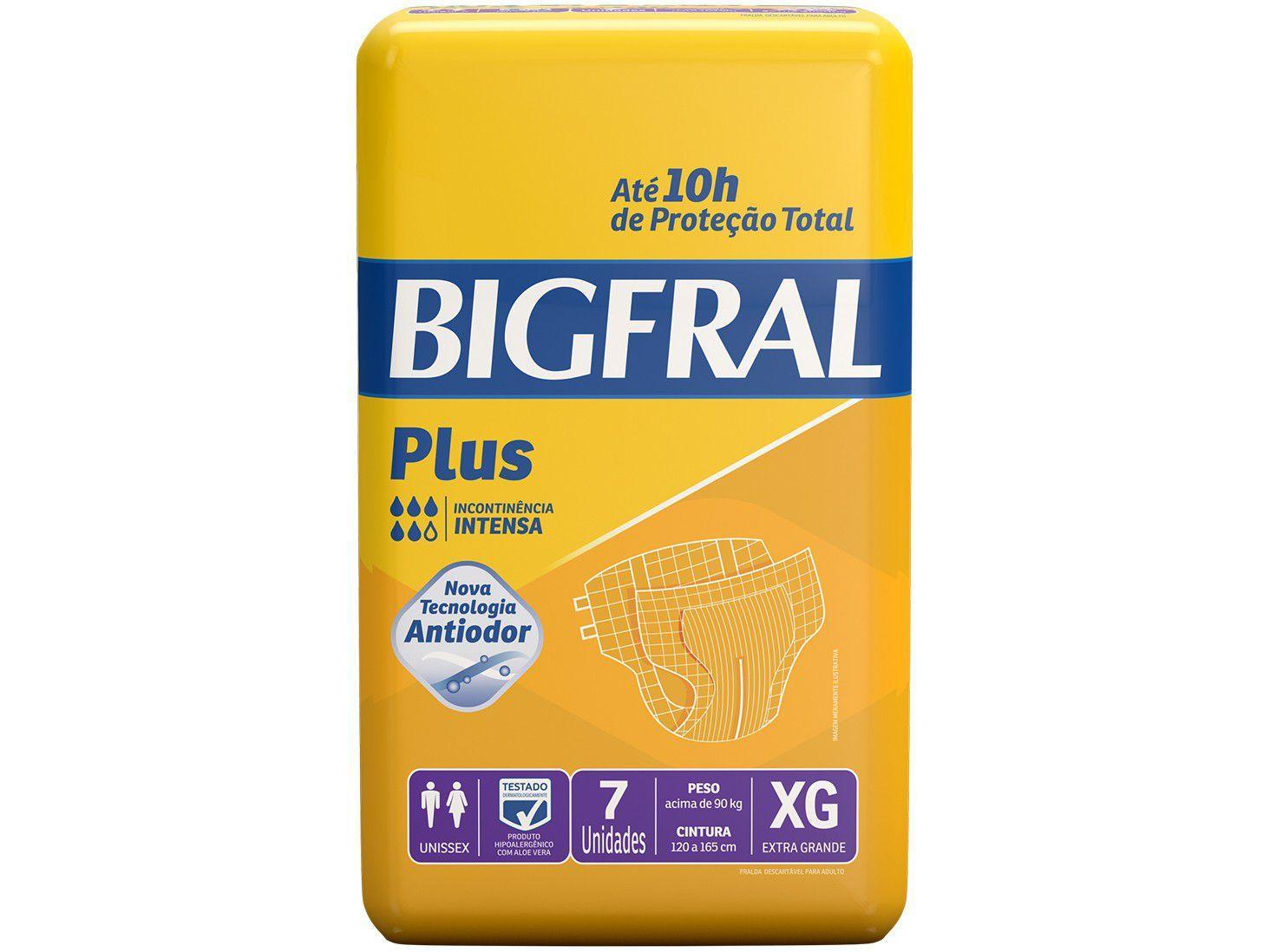 Fralda Geriátrica Bigfral Plus XG - 7 Unidades
