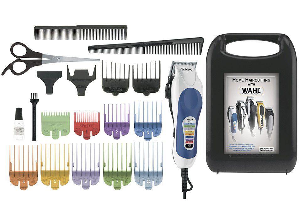 Kit Máquina de Cortar Cabelo Wahl Clipper - Color Pro 10 Níveis de Altura 1 Velocidade