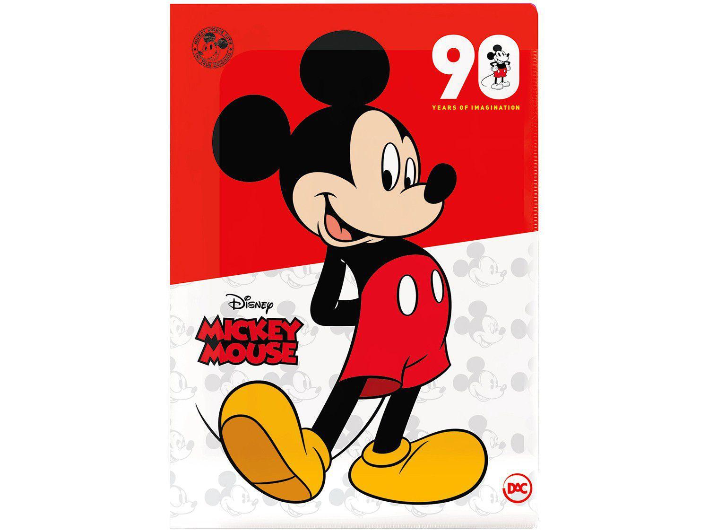Pasta Escolar de Plástico A4 Mickey Mouse DAC - 2594 10 Divisórias