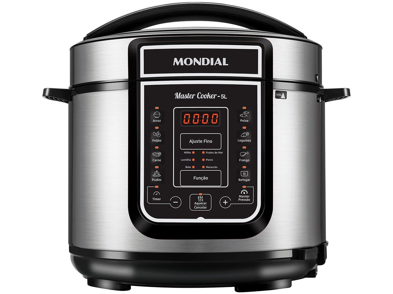 Panela de Pressão Elétrica Digital Mondial - Master Cooker Red PE-38 900W 5L Timer