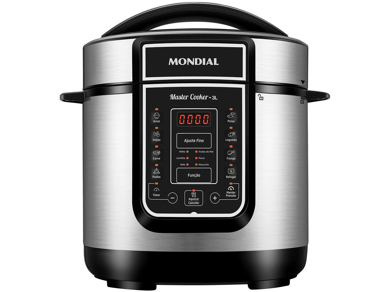 Panela de Pressão Elétrica Digital Mondial - Master Cooker Red PE-40 700W 3L Timer