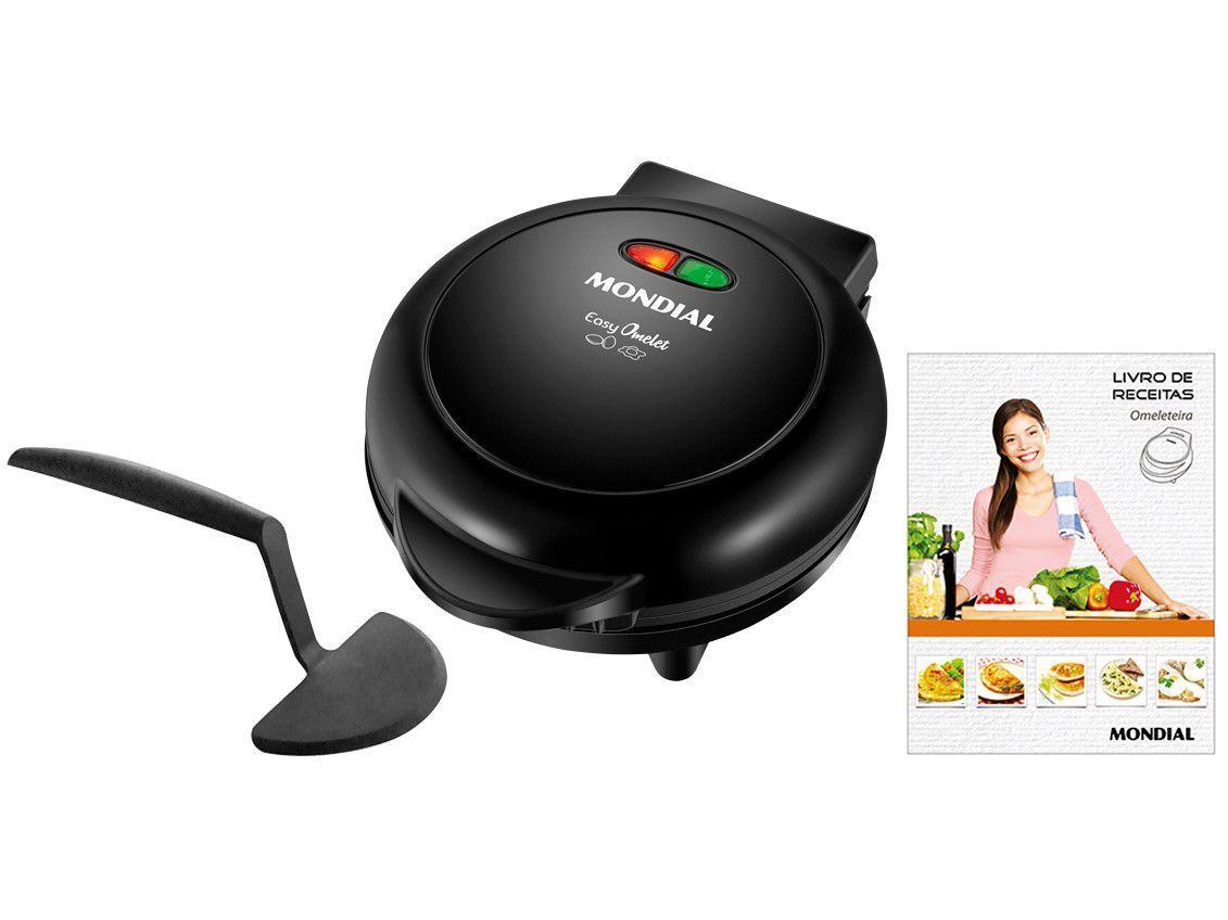 Omeleteira Elétrica Mondial Preta Easy Omelet - OM-02