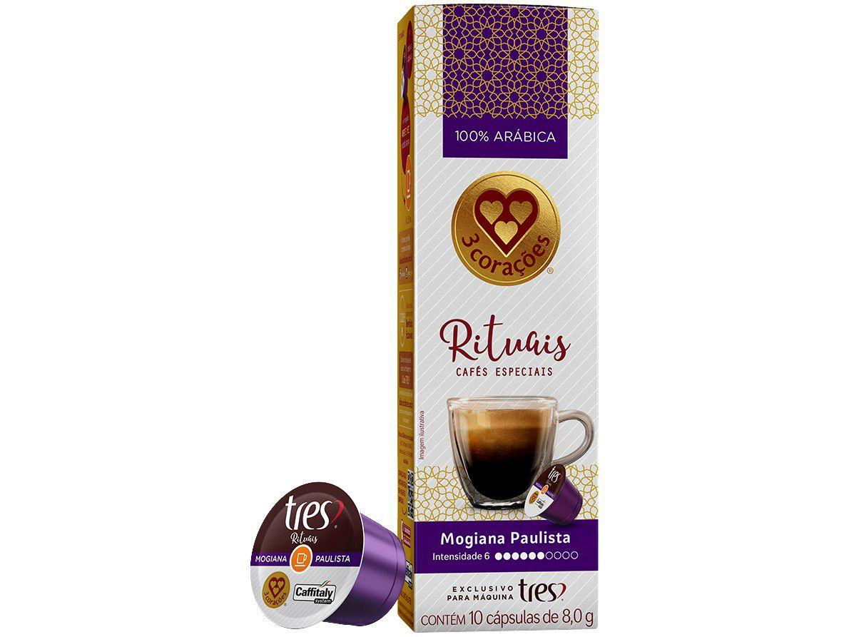 Cápsula de Café Espresso Rituais Mogiana Paulista - TRES 3 Corações 10 Cápsulas