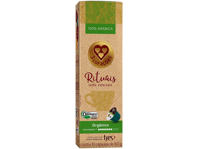 Cápsula de Café Espresso Orgânico Rituais TRES - 3 Corações 10 Cápsulas