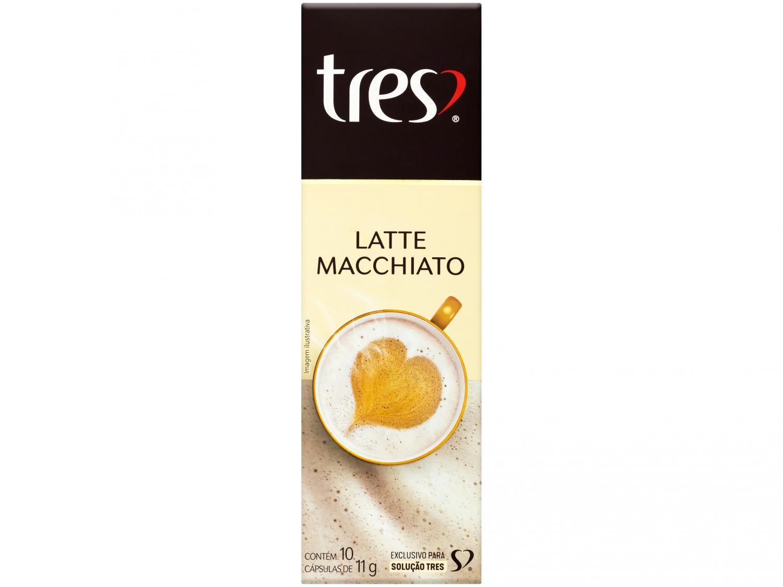 Cápsula TRES Café Leite com um Toque de Café - Latte Macchiato 3 Corações 10 Cápsulas