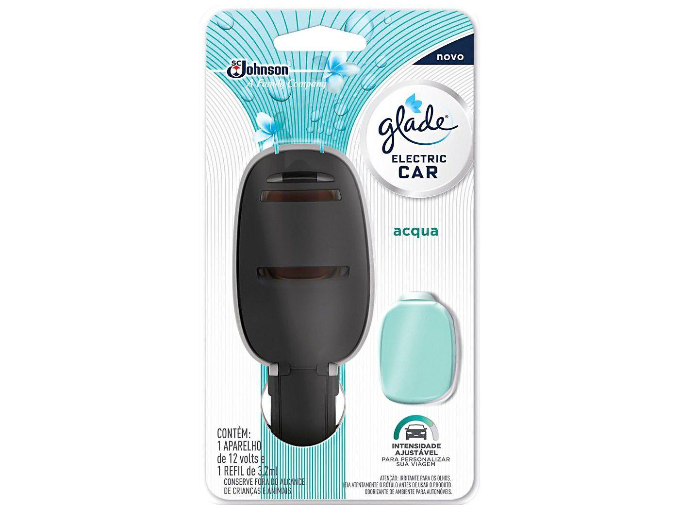 Odorizador para Carro Elétrico Glade - Electric Car Acqua 3,2ml
