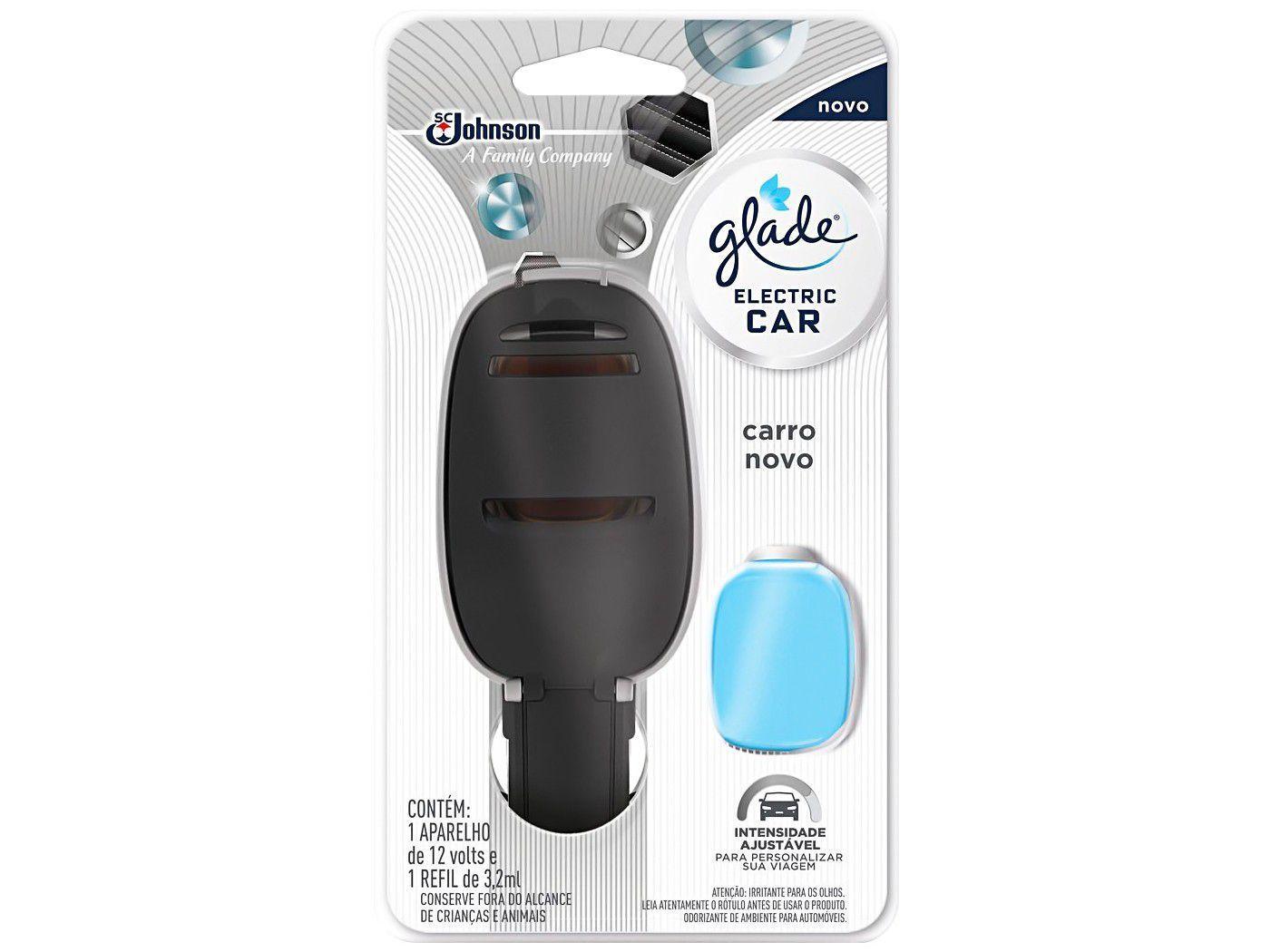 Odorizador de Carro Elétrico Glade - Electric Car Carro Novo 3,2ml