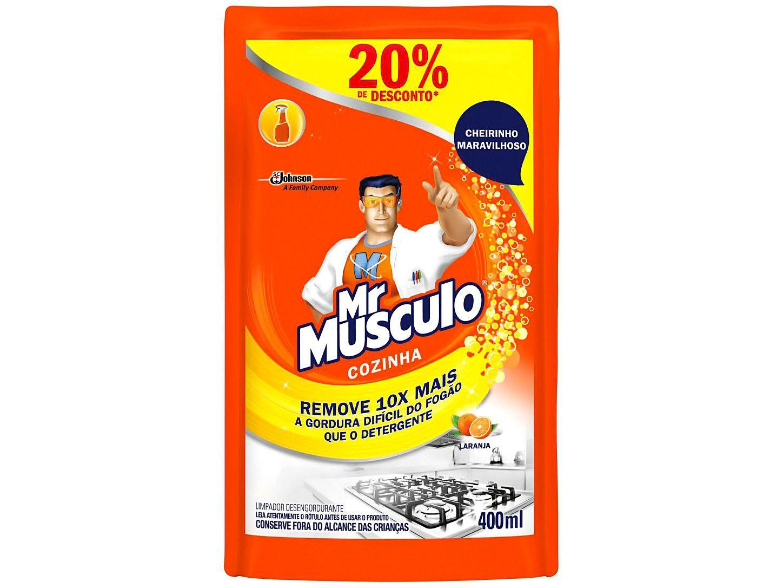Desengordurante Mr Músculo Cozinha Laranja - Refil 400ml