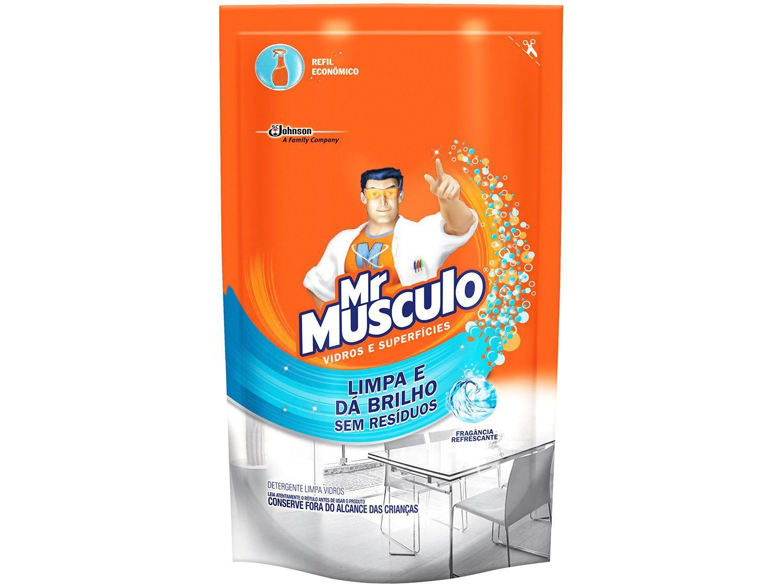 Limpador Multiuso Mr. Músculo Vidros e Superfícies - Fragrância Refrescante Refil 400ml