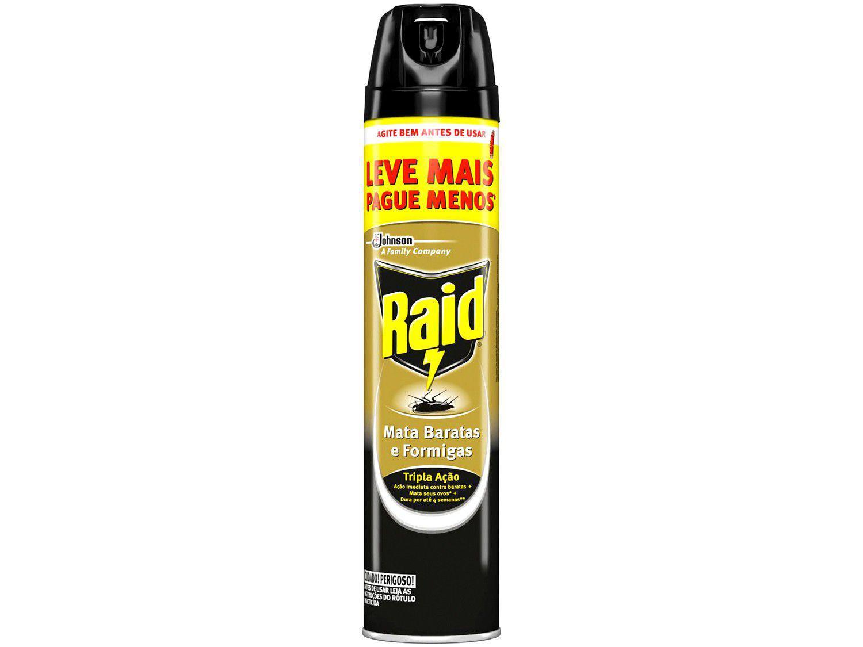 Inseticida Raid Aerossol Mata Baratas e Formigas - 420ml