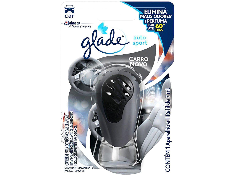 Odorizador para Carro Líquido Glade Auto Sport - Carro Novo Refil 7ml