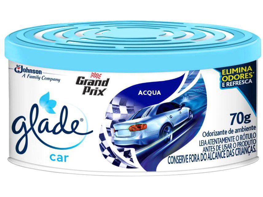 Odorizador de Carro Gel Glade Car Acqua - 70g