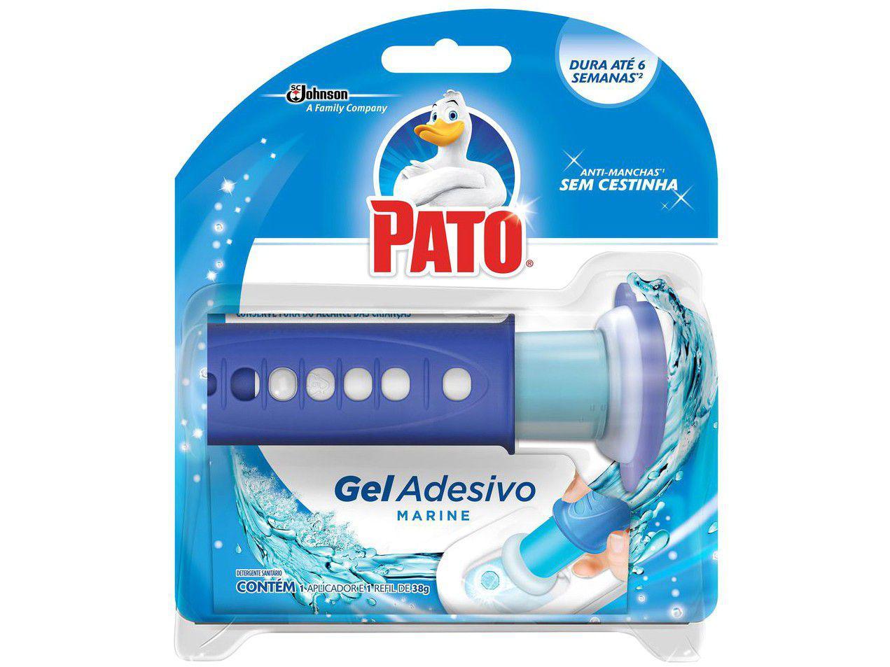 Desodorizador Sanitário Gel Adesivo com Aplicador - Pato Marine 38g