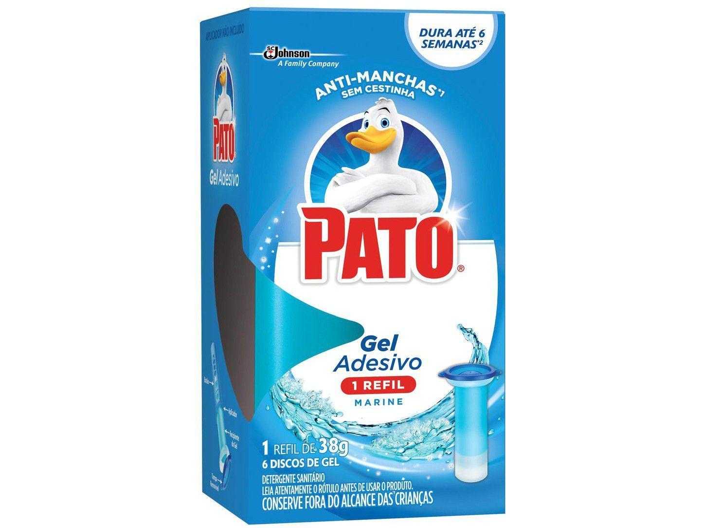 Desodorizador Sanitário Gel Adesivo Pato - Marine Refil 38g