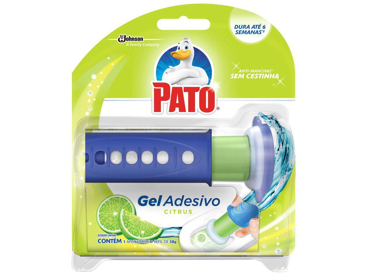 Desodorizador Sanitário Gel Adesivo com Aplicador - Pato Citrus 38g
