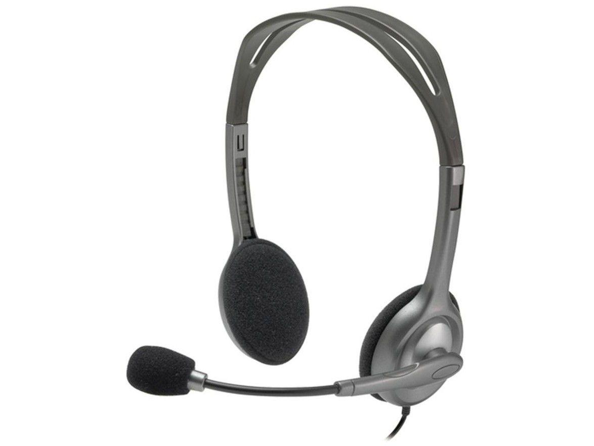 Headset Logitech H111 Preto