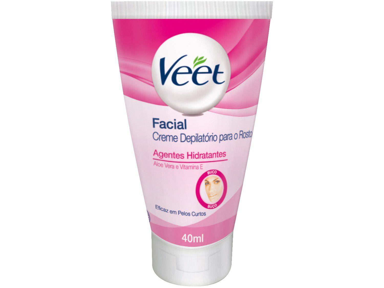 Creme Depilatório Veet Para Rosto - Aloe Vera e Vitamina E Facial Feminina 40ml