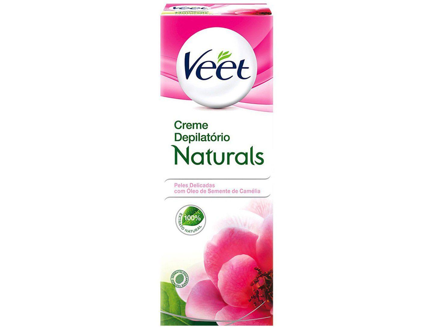 Creme Depilatório Veet Peles Delicadas Camélia - Naturals Corporal Feminina 100ml