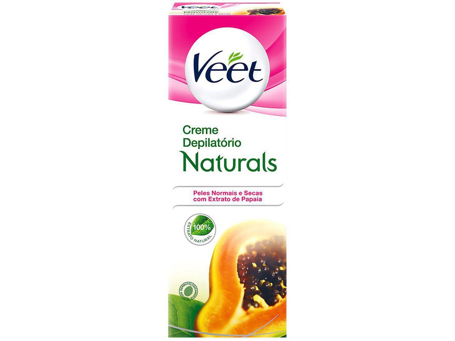 Creme Depilatório Veet Peles Normais e Secas - Naturals Extrato de Papaia Corporal Feminina 100ml