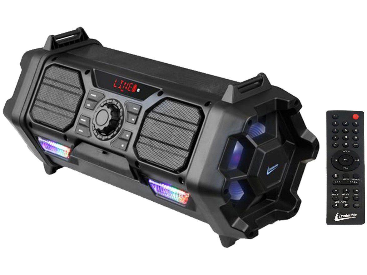 Caixa de Som Bluetooth Leadership Bazooka Speaker - Portátil Amplificada 280W USB
