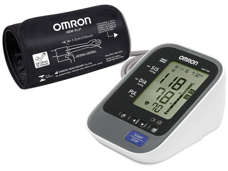 Medidor de Pressão Arterial de Braço Digital - Omron Automático HEM-7320