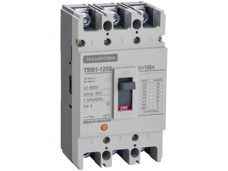Disjuntor Caixa Moldada Tripolar Tramontina - Elétrica TRM1-125S