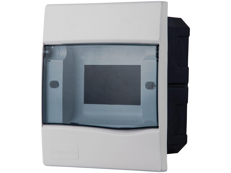 Quadro de Distribuição 5 DIN 3 NEMA Tramontina - Embutir Branco