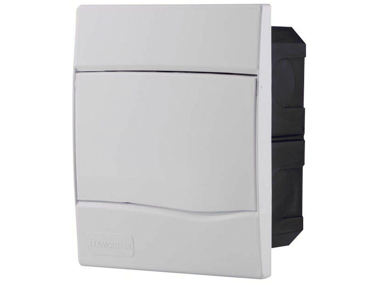Quadro de Distribuição 5 DIN 3 NEMA Tramontina - Sobrepor Branco