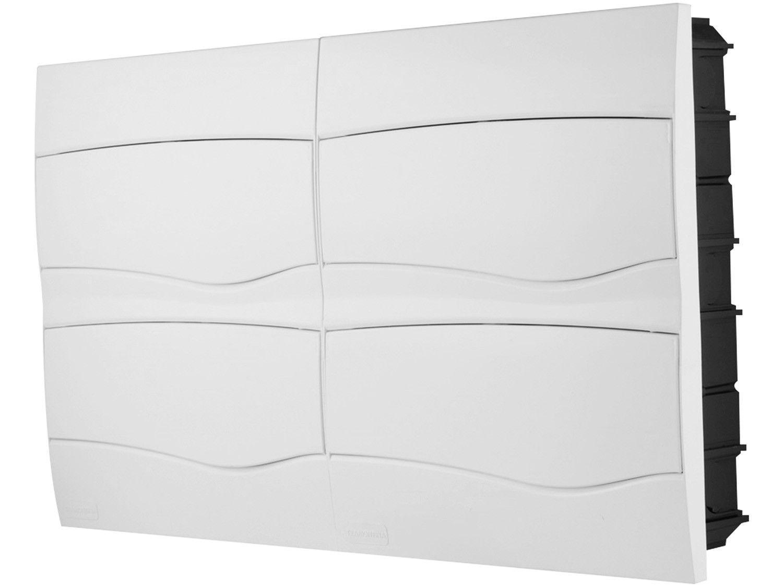 Quadro de Distribuição 48 DIN 32 NEMA Tramontina - Embutir Branco