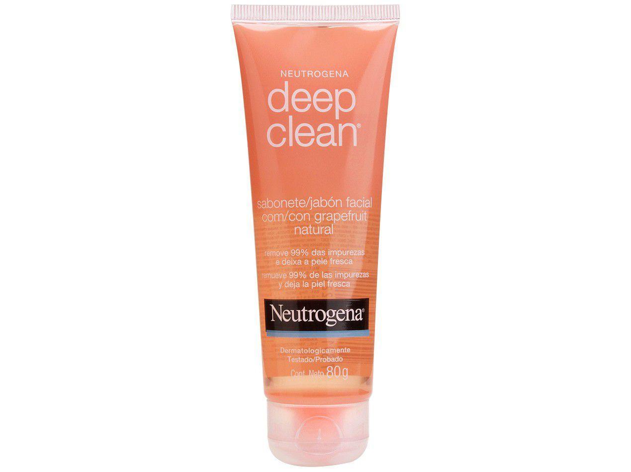 Sabonete em Gel Facial Neutrogena - Deep Clean Grapefruit 80g