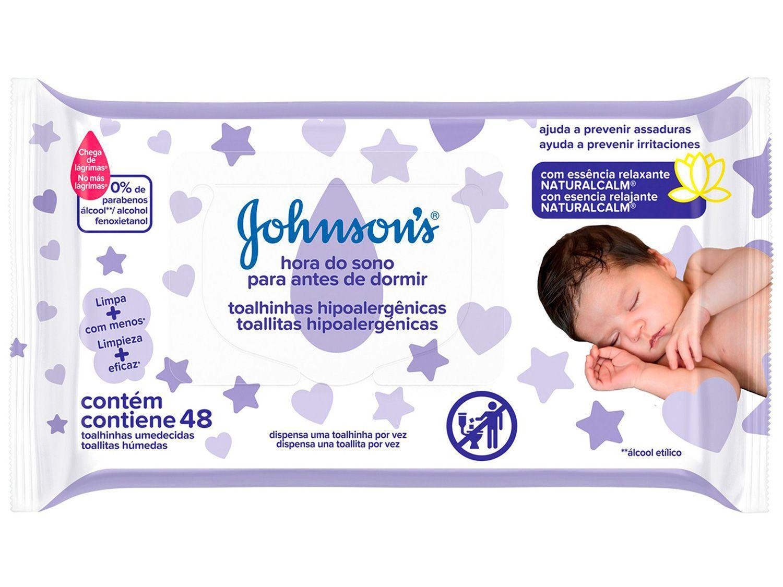 Lenço Umedecido Johnsons Baby Hora do Sono - 48 Unidades