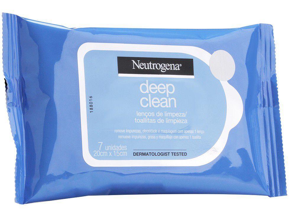 Lenço Demaquilante Neutrogena Deep Clean - 7 Unidades
