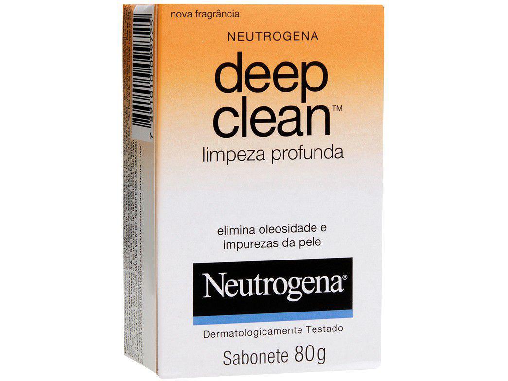 Sabonete em Barra Facial Neutrogena - Deep Clean Limpeza Profunda 80g