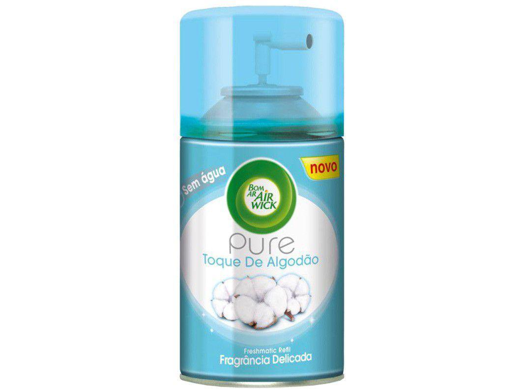 Aromatizador de Ambiente Spray Refil Air Wick - Freshmatic Toques de Algodão 250ml