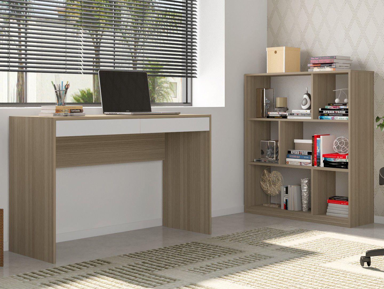 Conjunto Escritório Hecol Móveis Home Office - HO-2968 2 Peças