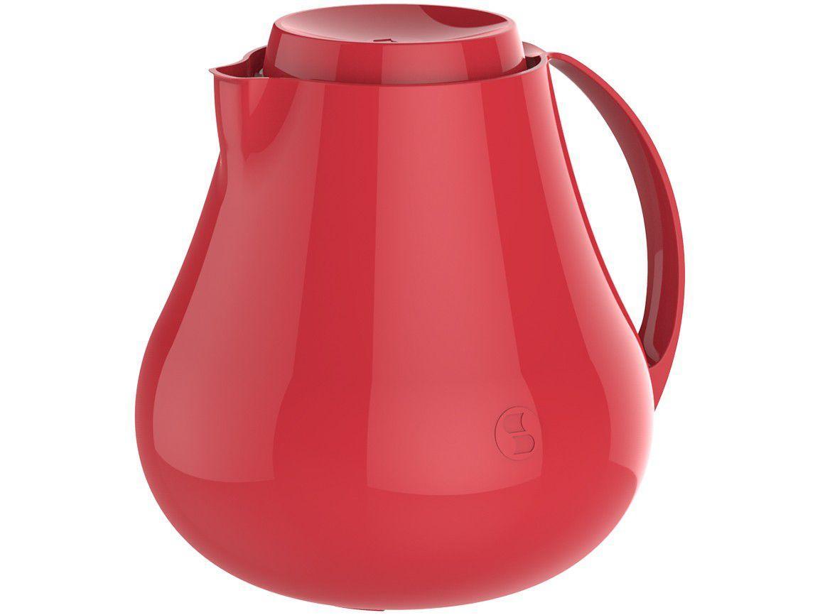 Bule de Chá e Café Térmico Vermelho 400ml Soprano - Sonetto