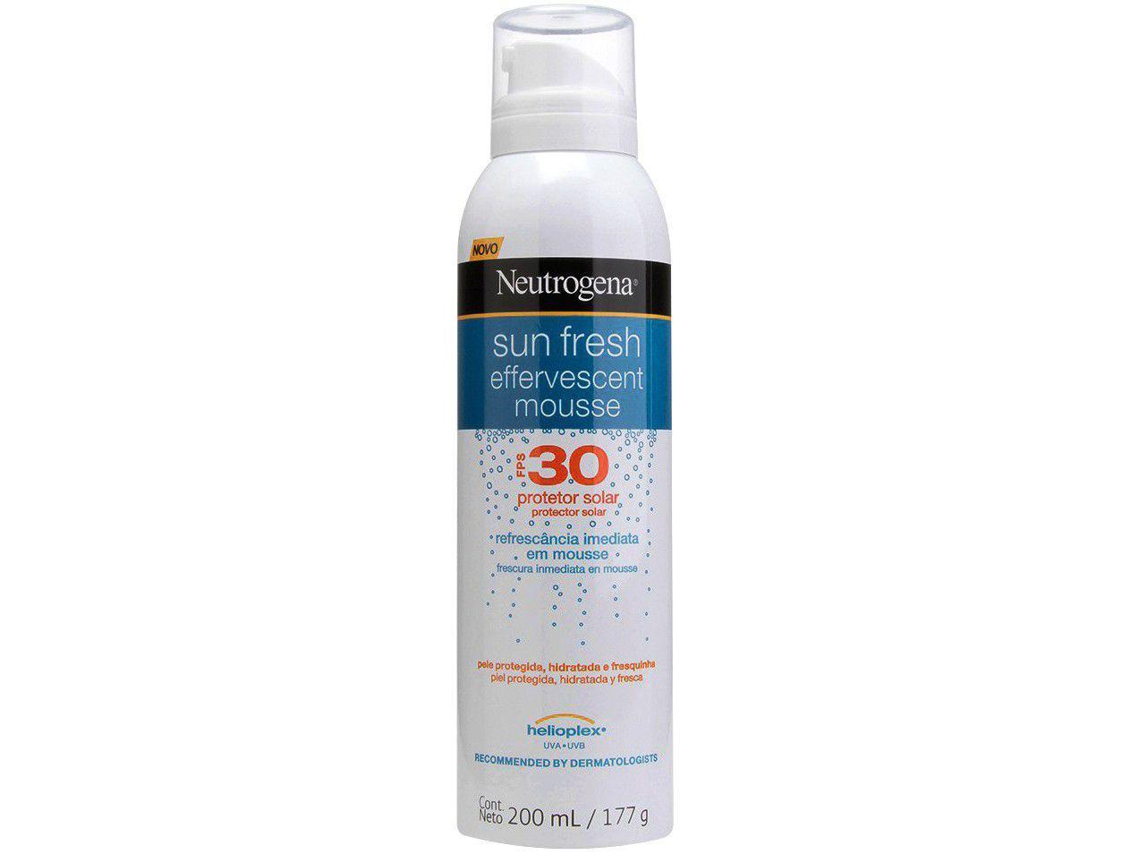 Protetor Solar Neutrogena Sun Fresh Mousse - Efervescente FPS 30 200ml