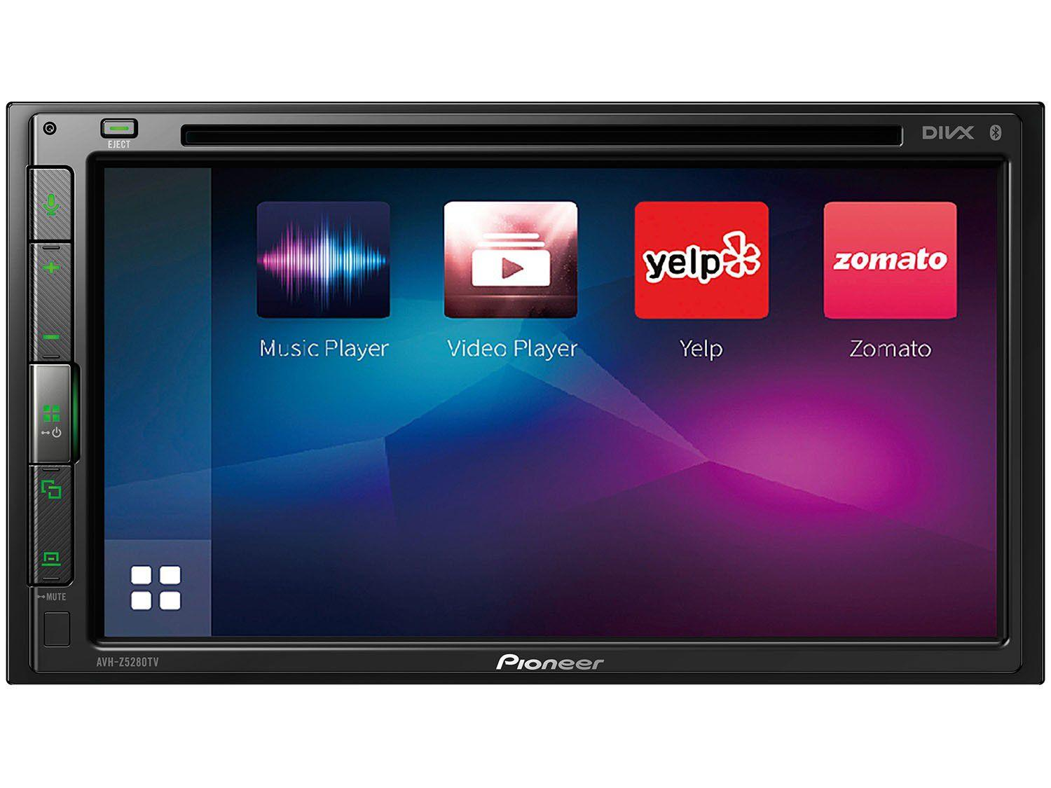 """Multimídia Receiver Pioneer AVH-Z5280TV LCD 6,8"""" - 2Din Touch Resistiva Apple CarPlay e Android Auto"""