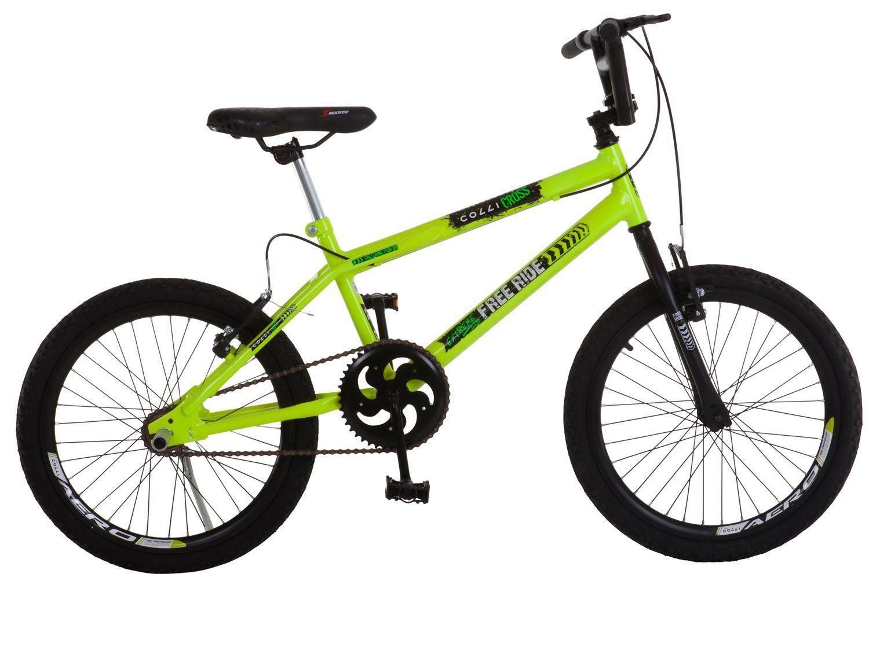 Bicicleta Infantil Aro 20 Colli Cross Extreme - Amarelo Neon Freio V-Brake