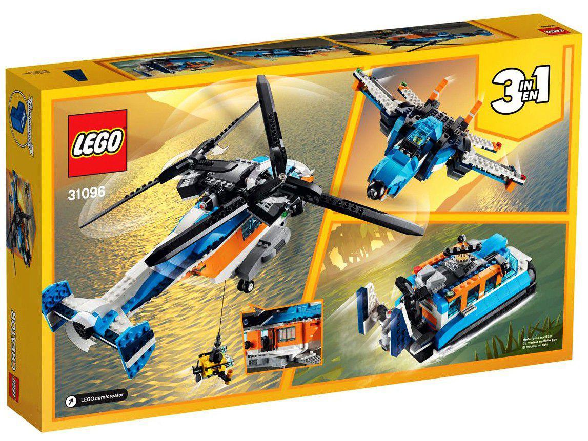 LEGO Creator Helicóptero de Duas Hélices - 569 Peças 31096